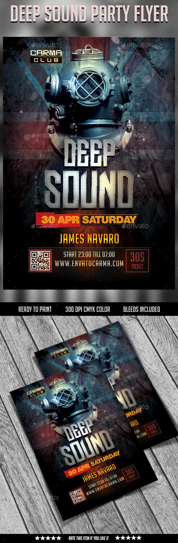 Deep Sound Party Flyer - Clubs & Parties Events
