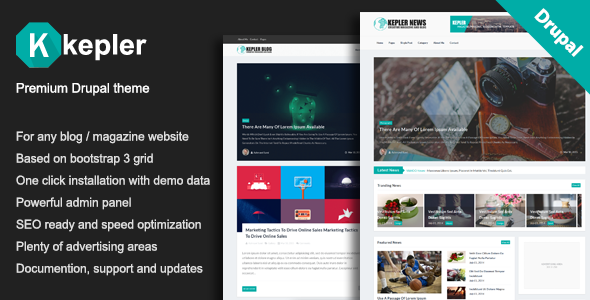 Image of Kepler – Premium Blog/Magazine Drupal theme