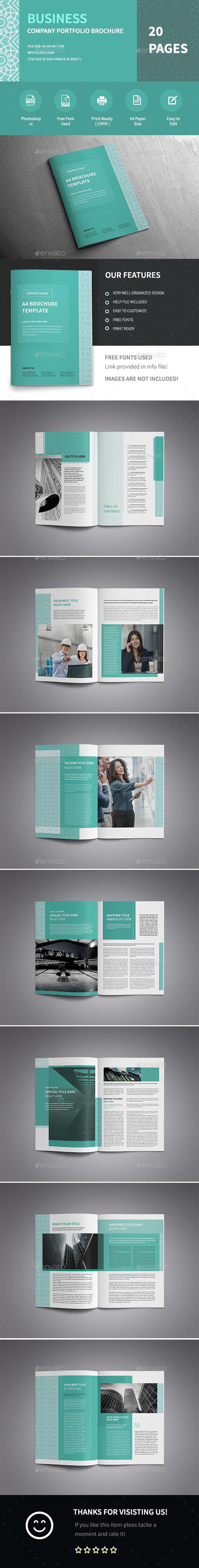 Modern A4 Corporate Business Brochure Template  - Corporate Brochures
