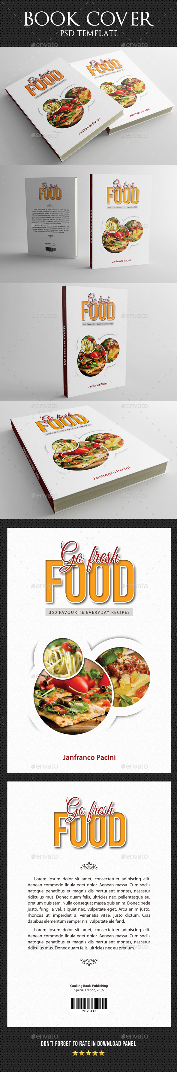 Cook Food Book Cover Template V2 - Miscellaneous Print Templates
