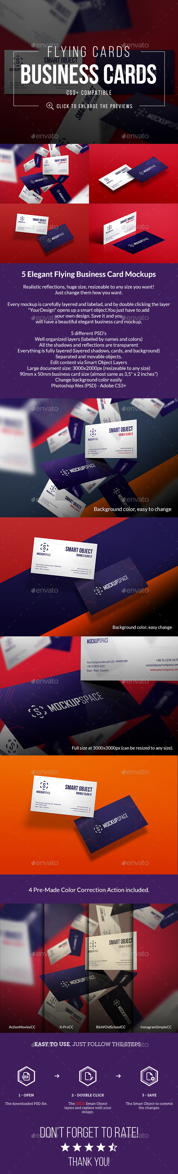 Flying Elegant Business Cards - Business Cards Print