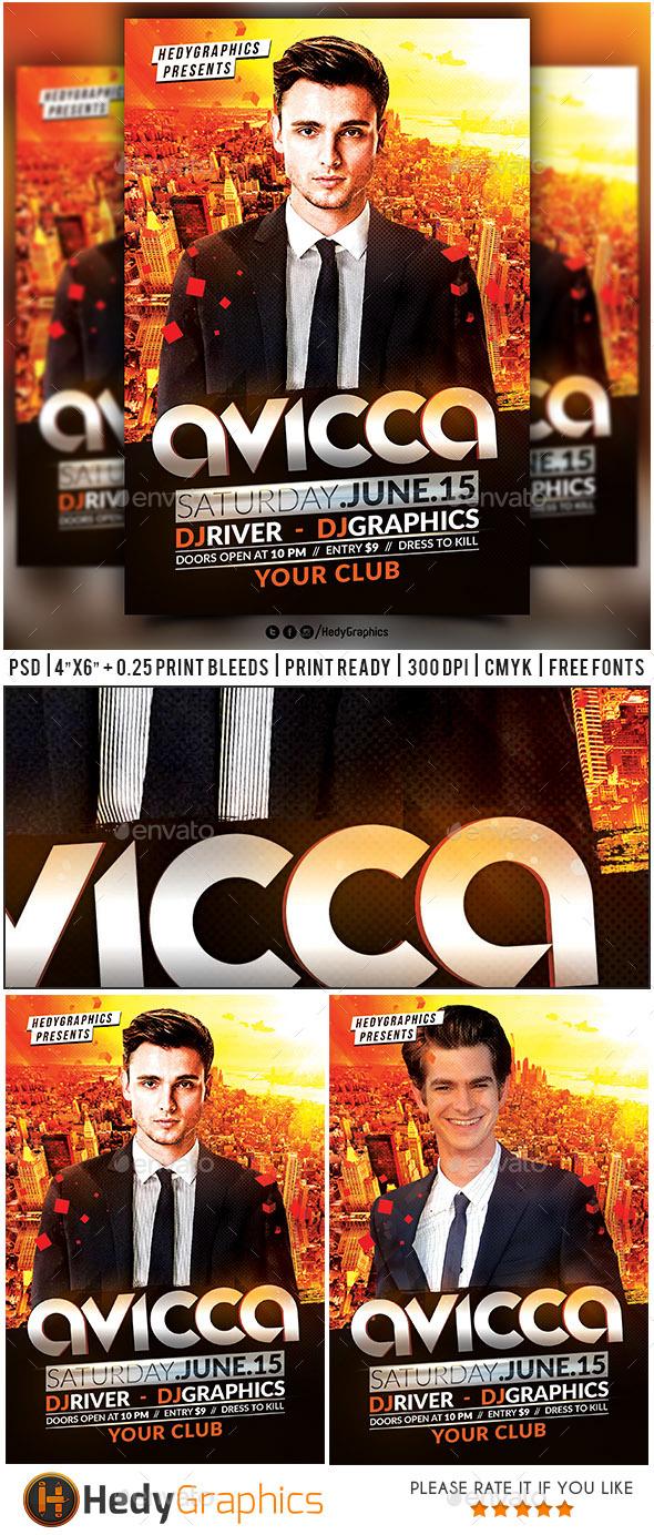 Guest Dj & Artist Flyer Template - Clubs & Parties Events