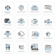 Flat Design Protection And Security Icons Set. - GraphicRiver Item for Sale