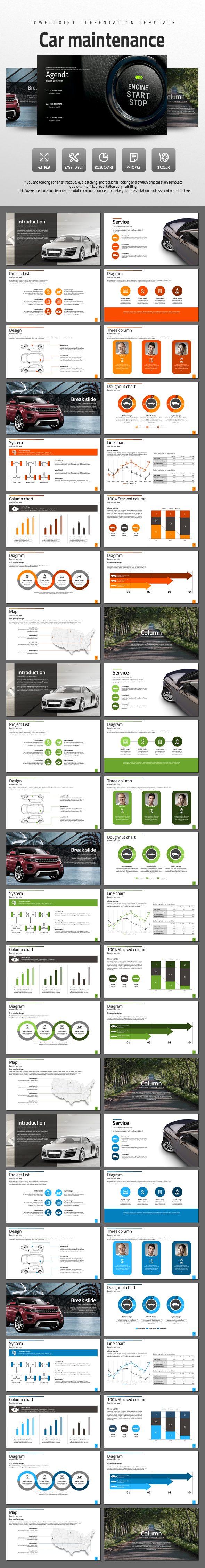 Car Maintenance - PowerPoint Templates Presentation Templates