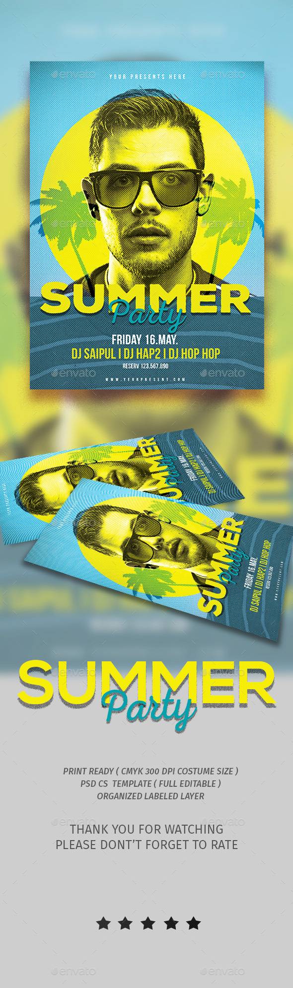 Summer Party - Events Flyers