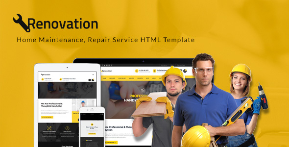 Renovation - Home Maintenance, Repair Service HTML Template - Business Corporate