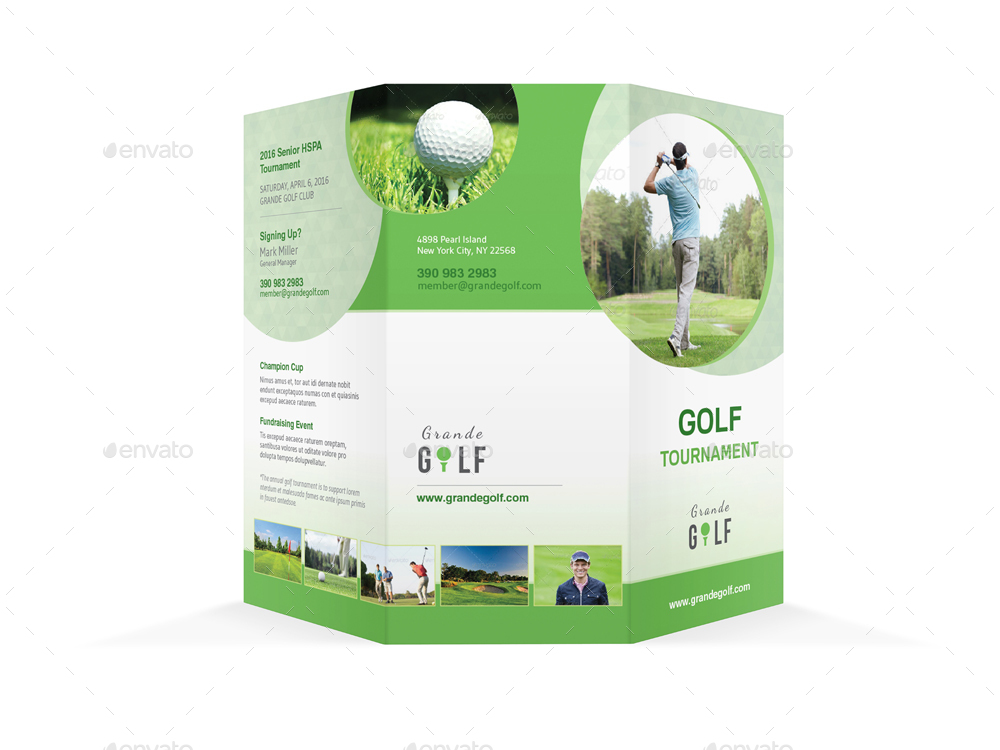 Golf Tournament Trifold Brochure  By MikePantone  Graphicriver