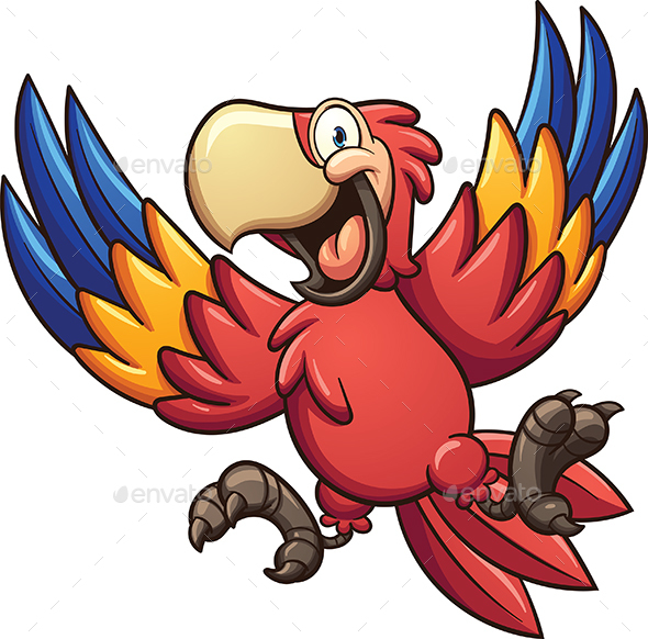 Cartoon Macaw - Animals Characters