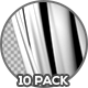 Black and White Clean Curtains - 10 Pack - VideoHive Item for Sale