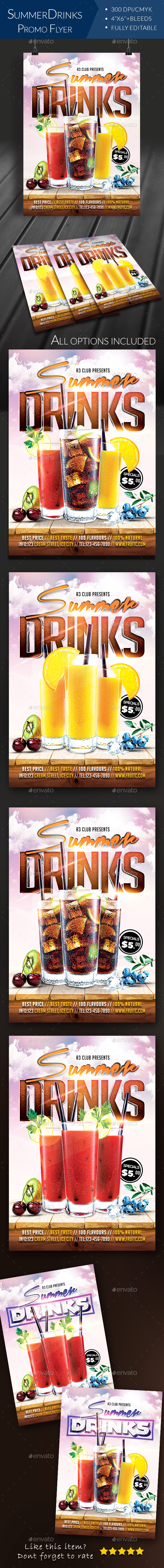 Summer Drinks Flyer - Clubs & Parties Events