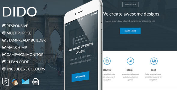 Dido - Responsive Email Template - Newsletters Email Templates