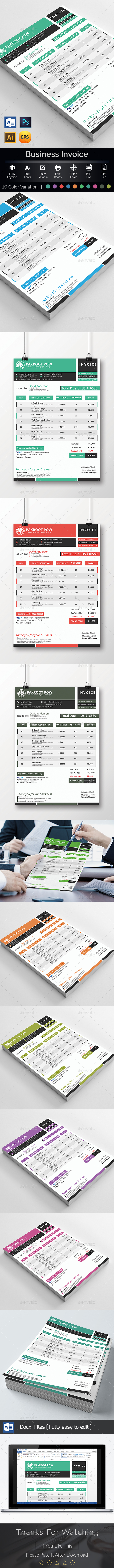 Invoice Template With Ms Word - Proposals & Invoices Stationery