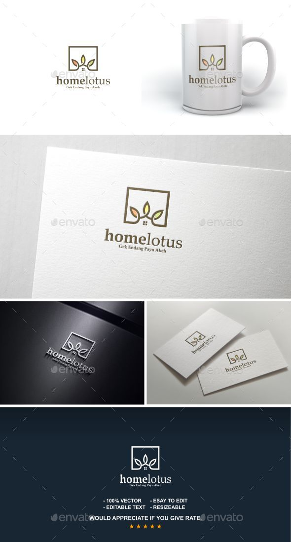 Home Lotus - Letters Logo Templates