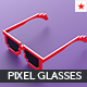 Pixel glasses model