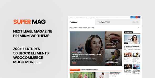 Super Mag – News Magazine and Blog WordPress Theme