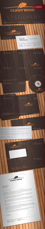 Classy Wood Stationery - Stationery Print Templates