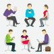 People Set Work Sitting on Chairs - GraphicRiver Item for Sale