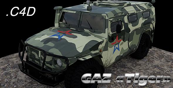 GAZ-2330 «Tiger» - 3DOcean Item for Sale