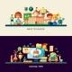 Education Website Header Banner with Webdesign - GraphicRiver Item for Sale