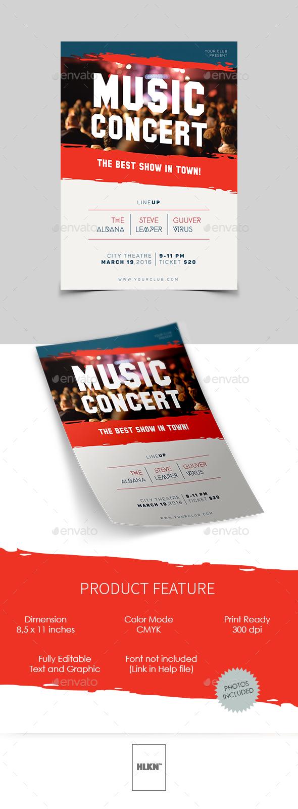 Music Concert Flyer - Concerts Events
