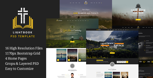 LightBook – Church PSD Template