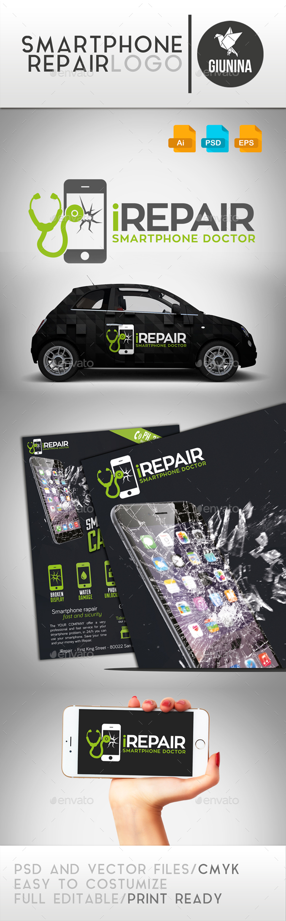 Smartphone Repair Logo Template - Logo Templates