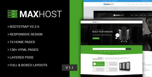 MaxHot - Professional Web Hosting Responsive HTML5 Template - Technology Site Templates