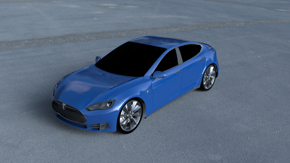 Tesla Model S P85 HDRI - 3DOcean Item for Sale