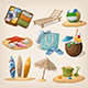 Beach Vacation Icon Set - GraphicRiver Item for Sale