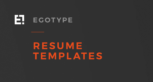 Egotye Resume Designs