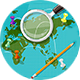 Vector World Map of Travel - GraphicRiver Item for Sale