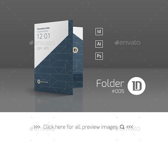 Presentation Folder Template 005 - Stationery Print Templates