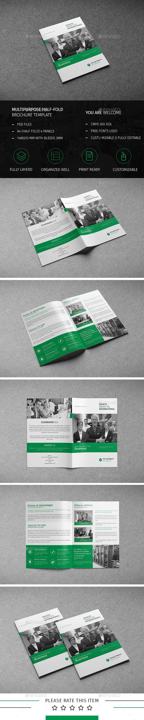 Corporate Bi-fold Brochure-Multipurpose 10 - Corporate Brochures