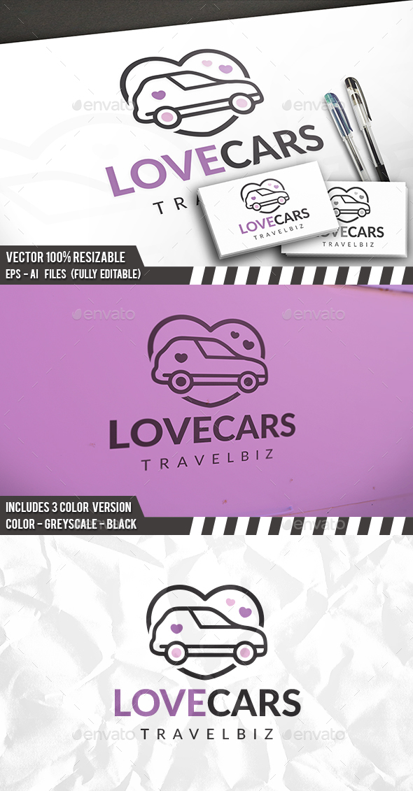Car Love Logo - Objects Logo Templates