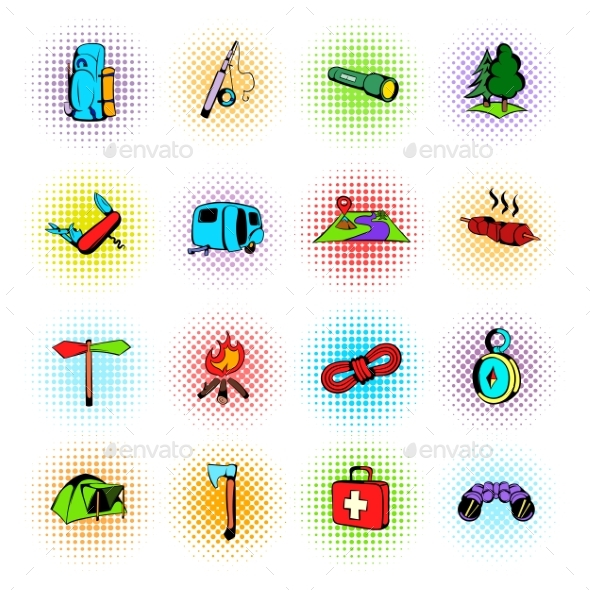 Camping Comics Icons - Miscellaneous Icons
