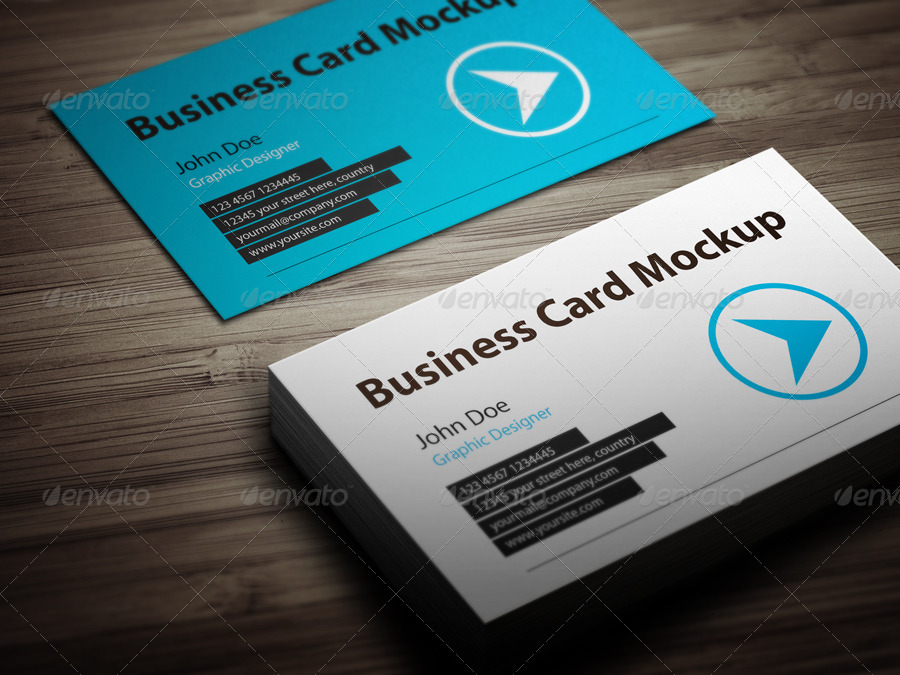 Business Card Mockup With Actions Pack By Graphicovy Graphicriver