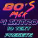 80's Logo Intro & Text Presets Pack - VideoHive Item for Sale