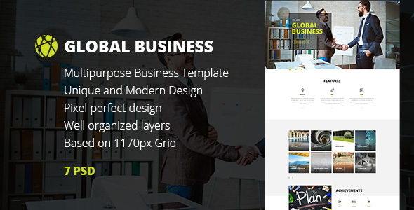 GB — Multipurpose Global Business/Freelance Portfolio PSD Template