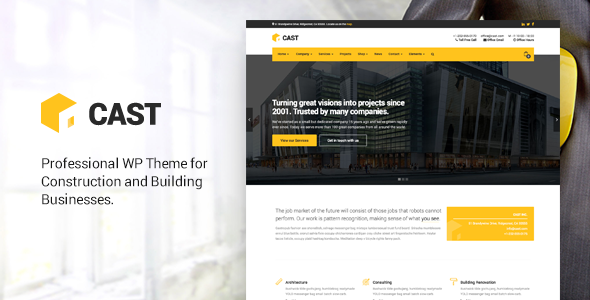 Cast – Construction & Building WordPress Theme