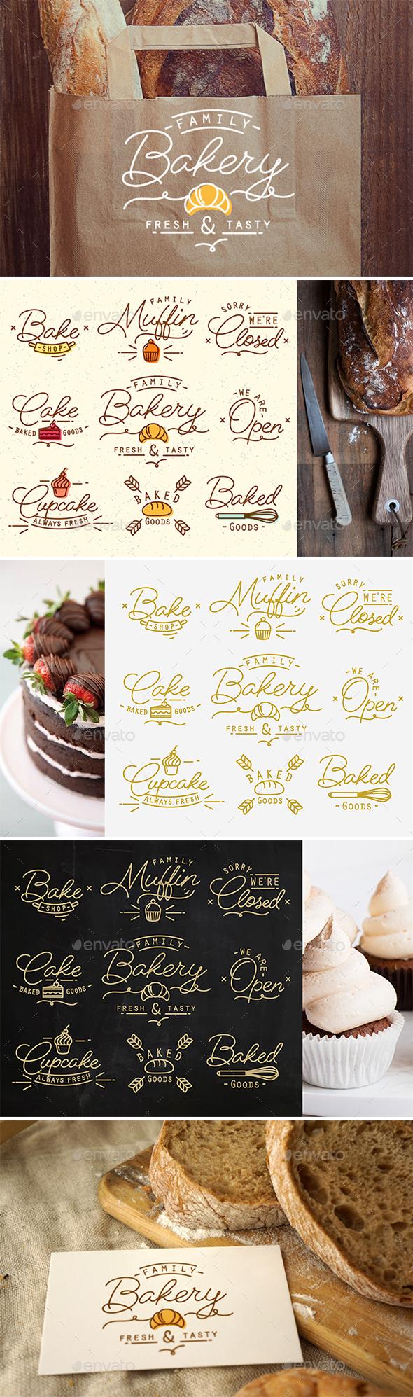 Flat Bakery Symbols  - Food Objects
