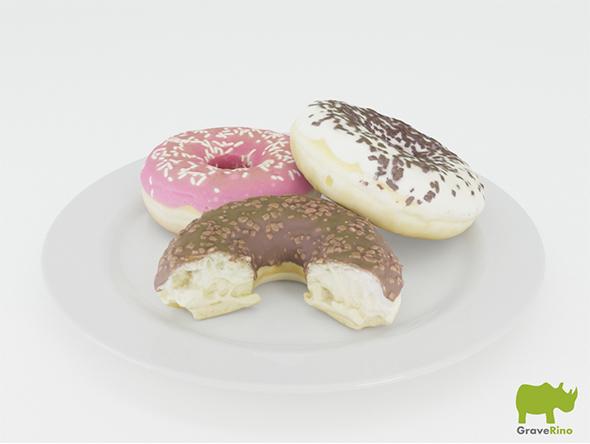 Donut 3D Model - 3DOcean Item for Sale