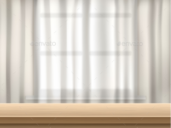 Table and Curtain Background - Backgrounds Decorative