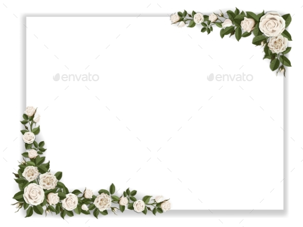 White Paper Sheet Decorated Roses - Flowers & Plants Nature