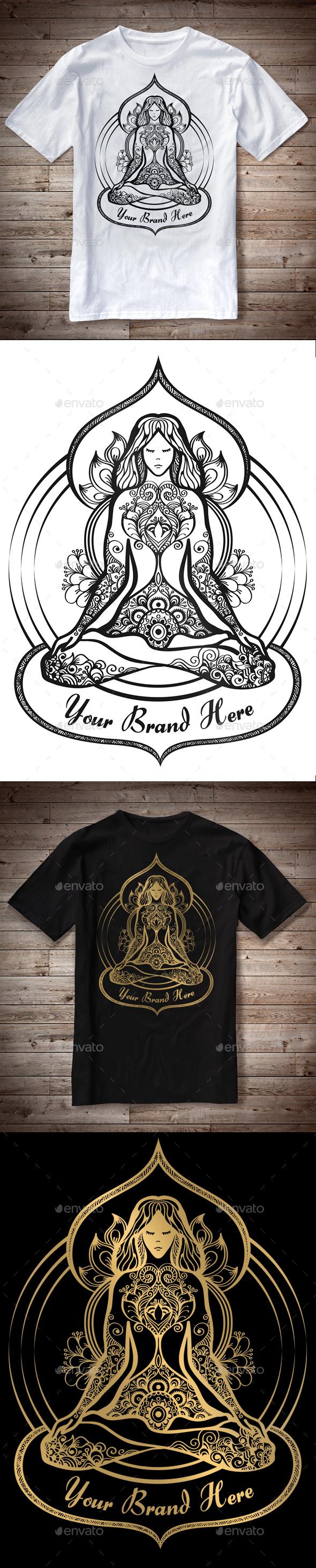 T-Shirt Illustration Yoga Theme - T-Shirts