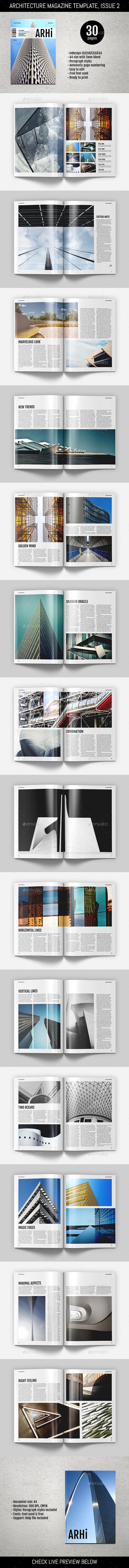 Architecture Magazine Template - Magazines Print Templates