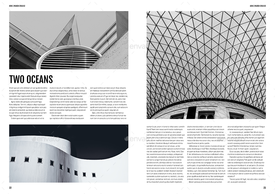 Architecture magazine template by northgraphics graphicriver for D architecture magazine