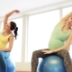 Happy Pregnant Women Exercising On Fitball In Gym - VideoHive Item for Sale