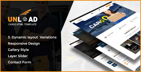 Unload - Cargo, Shipping, Warehouse & Transport HTML5 Responsive Website Template - Business Corporate