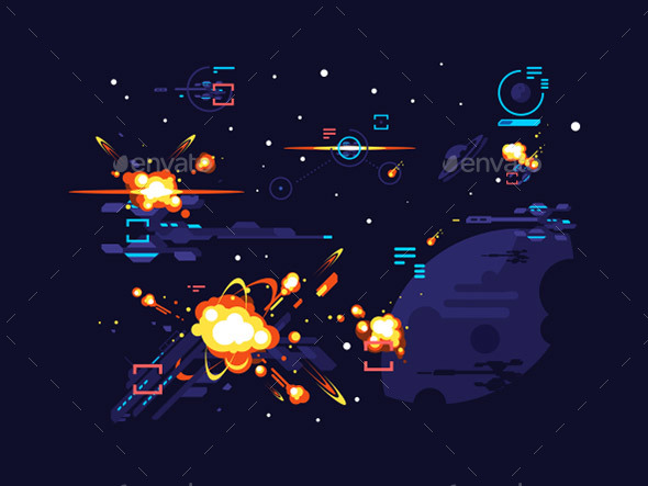Battle Star Space - Miscellaneous Vectors