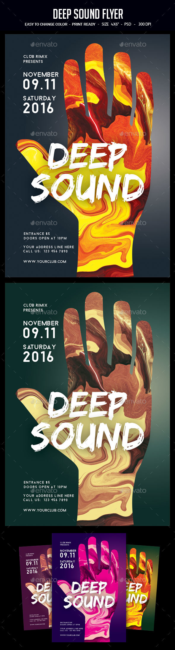 Deep Sound Flyer - Clubs & Parties Events